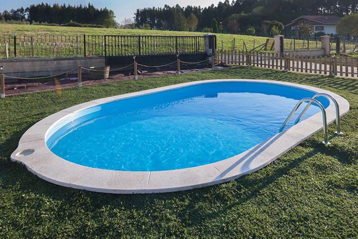 Sumatra 800x400cm oasi blu piscine - Piscina acciaio ...